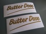 Butter Dose Aufkleber
