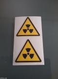 Achtung Radioaktiv nuclear Sticker / Fun JDM