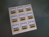 6 Aufkleber Startzahlen H 33 Digitaldruck selbstklebend