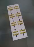 16 Aufkleber Startzahlen Lineltex NR . 7 Digitaldruck selbstklebend
