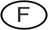 Auto Pkw Kfz Aufkleber Sticker Frankreich France Française Länderkennzeichen