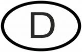 Auto Pkw Kfz Aufkleber Sticker Deutschland Länderkennzeichen