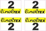 16 Aufkleber Startzahlen Lineltex NR . 2 Digitaldruck selbstklebend