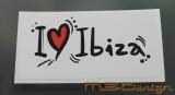 Aufkleber  I Love Ibiza  JUX GAG JDM Auto Aufkleber Sticker