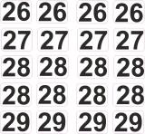 Aufkleber Startzahlen  26 - 29  Digitaldruck selbstklebend