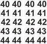 Aufkleber Startzahlen  40 - 44  Digitaldruck selbstklebend