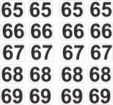 Aufkleber Startzahlen  65 - 69  Digitaldruck selbstklebend