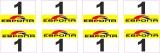 8 Aufkleber Startzahlen EPONA #1 Modellbau 1:18 selbstklebend