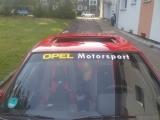 Opel Motorsport  gelb / weiß für front oder Heckscheibe