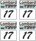 Lombard RAC RALLY #17 Startzahl 1:18 Modellbau Set a 4 Stück