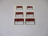 For Sale Aufkleberset verschiedene Größen. Modellbau / Dioramabau