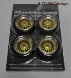 SD Felgen 16 Zoll BBS RS gold 31mm Maßstab 1:18