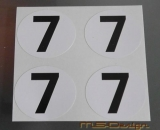 Startzahlen Aufkleber 300 SL #7 Modellbau 1:18 selbstklebend