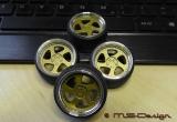 TMB 16  Zoll  Radsatz Echt Aluminium 1:18