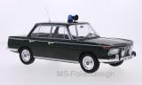 BMW 2000 TI (Typ 120), dunkelgrün, Polizei, Türen und Hauben geschlossen, 1966 - 1:18