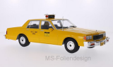 Chevrolet Caprice Classic Sedan, gelb, NYC Taxi, Türen und Hauben geschlossen, 1985 - 1:18