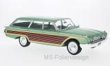 Ford Country Squire, metallic-hellgrün/Holzoptik, 1960 - 1:18
