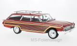 Ford Country Squire, rot/Holzoptik, mit Dachreling, 1960 - 1:18