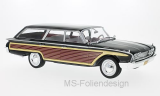 Ford Country Squire, schwarz/Holzoptik, ohne Dachreling, 1960 - 1:18