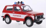 Lada Niva, rot/weiss, Feuerwehr, Türen und Hauben geschlossen, 1978 - 1:18