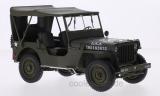 Jeep Willys, matt-oliv, U.S. Army, geschlossen - 1:18
