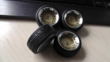 BBS E30 Alufelge in 13 Zoll fertig lackiert in Goldmetallic  im Maßstab 1:18